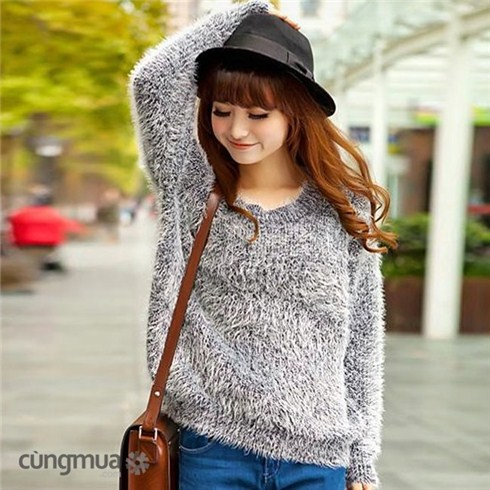 Áo len lông thời trang, kiểu dáng Hàn Quốc