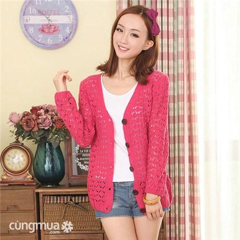 Áo khoác len điệu đà Hàn Quốc