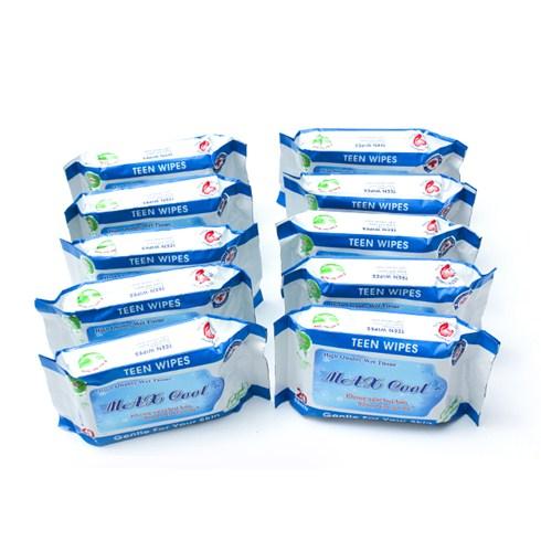 Combo 10 gói khăn giấy ướt Max Cool (20 tờ/gói)
