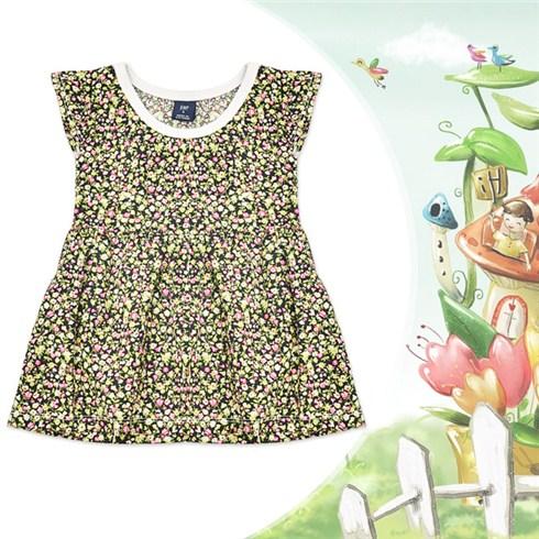 Đầm xòe hoa nhí cho bé gái từ 1 đến 3 tuổi