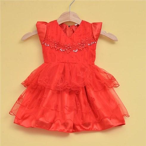 Đầm xòe bé gái đính cườm (từ 1 đến 5 tuổi)