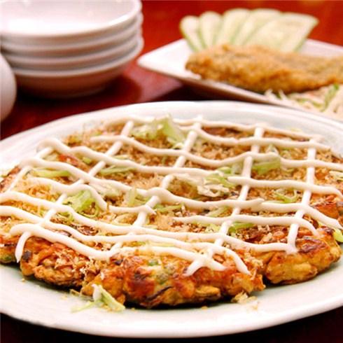 Bánh xèo Nhật và cá ngân chiên xù - Nhà hàng Sushi Sashimi Hana