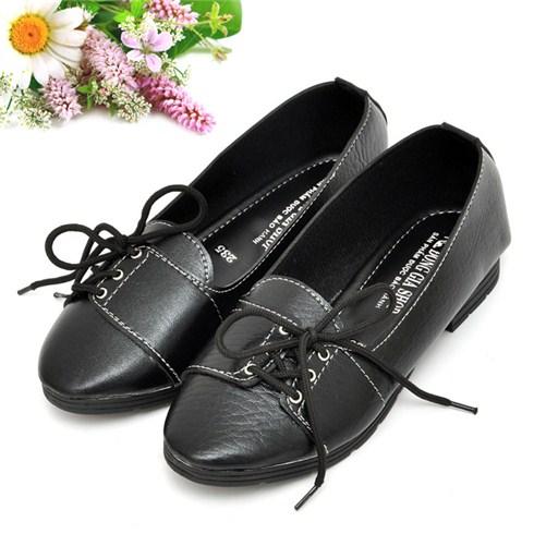 Giày thắt dây hông màu đen - Bảo hành 1 năm