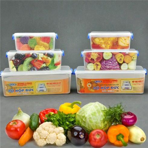 Combo 2 bộ hộp đựng thực phẩm cao cấp Song Long (6 hộp)