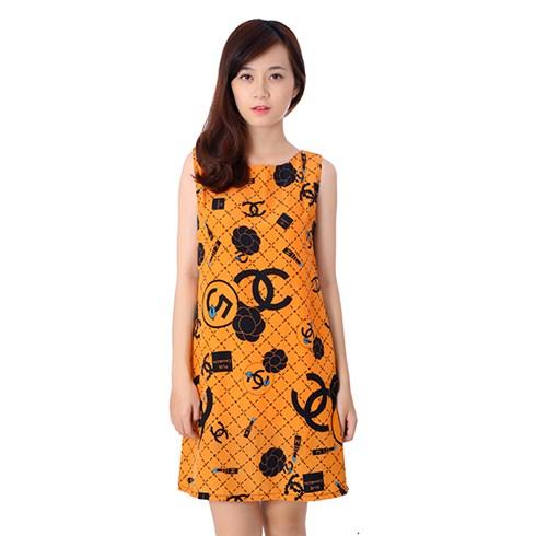 Đầm suông họa tiết thời trang
