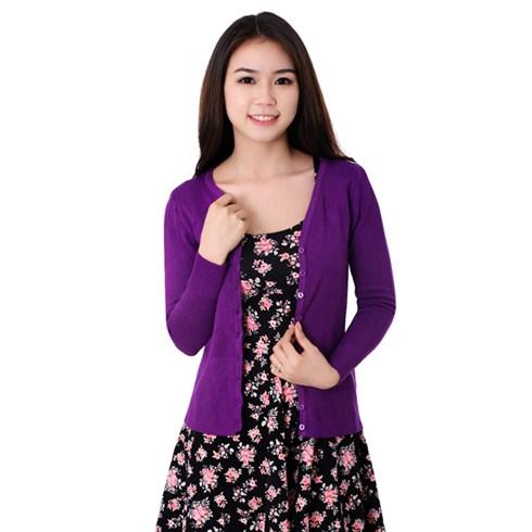 Áo khoác nữ len dệt kim thu đông 2014