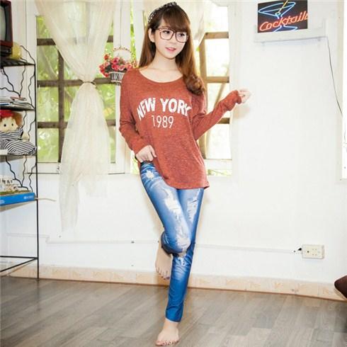 Quần legging giả jeans wax (big size)