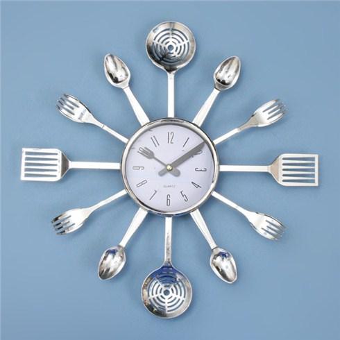 Đồng hồ treo tường họa tiết nĩa và muỗng