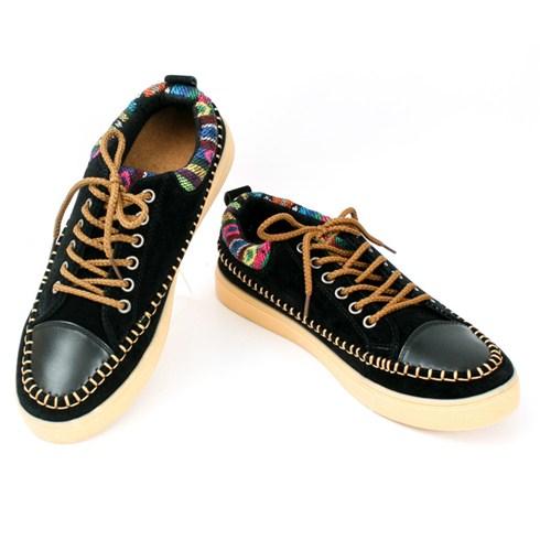 Giày nam họa tiết thổ cẩm thương hiệu ISGM - Bảo hành 6 tháng