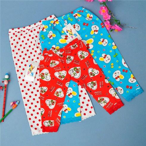 Combo 3 quần legging họa tiết cho bé từ 1 đến 5 tuổi