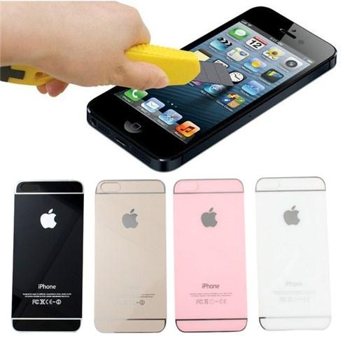 Bộ miếng dán cường lực màu 2 mặt cho iPhone 5/5S