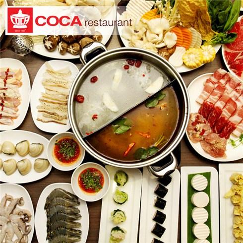 Buffet Lẩu Hải Sản gọi món và Nước không giới hạn - NH Coca Suki