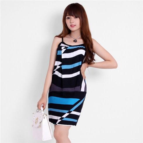 Đầm dây kẻ sọc xinh xắn Việt Nam xuất khẩu