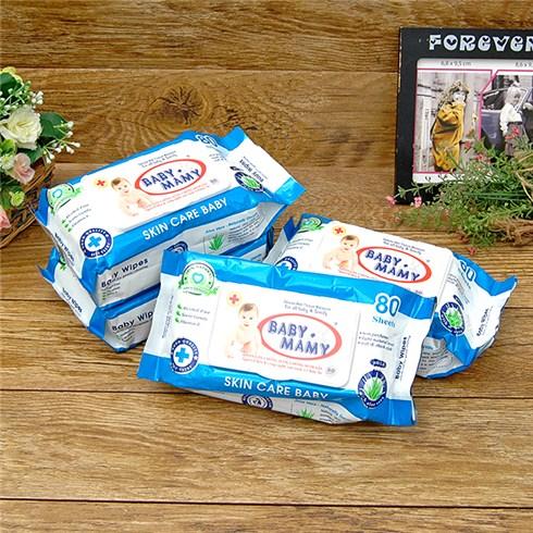 Combo 4 gói khăn giấy ướt BABY MAMY (80 tờ/gói)