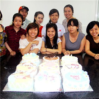 Cùng Mua - Khoa hoc lam banh kem theo chu de, banh Tart - TTDN Nhat Huong