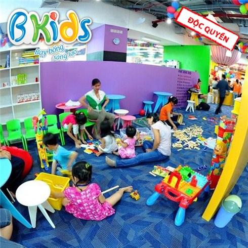 1 trong 2 combo vui chơi trọn gói cho bé tại BKIDS Bình Dương