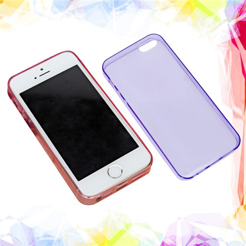 Combo 2 ốp lưng silicone siêu mỏng trong suốt cho iPhone 5/5S