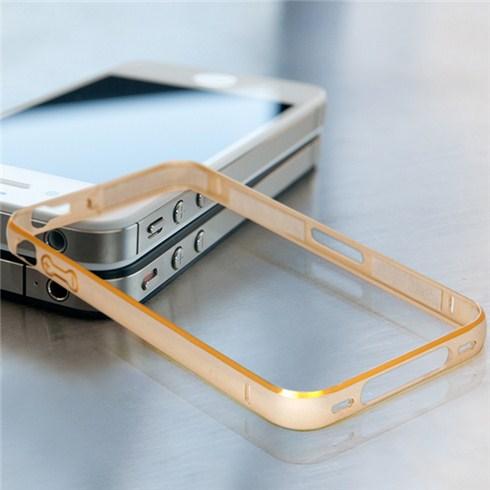 Bộ viền nhôm iPhone 4 màu vàng sành điệu