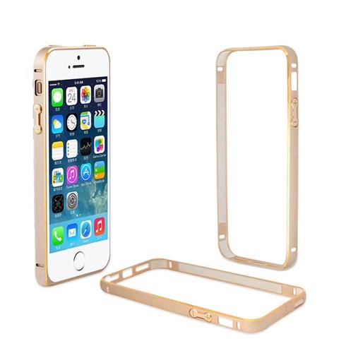 Bộ viền nhôm iPhone 5 màu vàng sành điệu