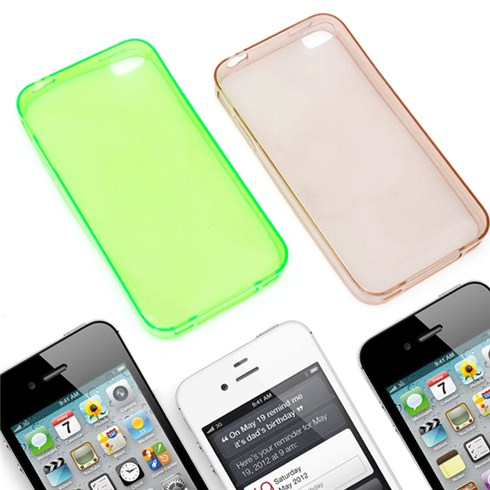 Combo 2 ốp lưng silicone siêu mỏng trong suốt cho iPhone 4/4S