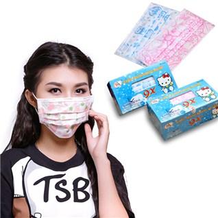 Cùng Mua - 2 hop khau trang y te 3 lop Famapro Hello Kitty, Doremon
