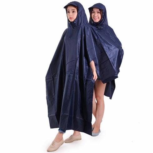 Áo mưa 2 đầu vải dù cao cấp màu xanh đen