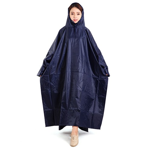 Áo mưa cánh dơi 1 đầu vải dù màu xanh đen