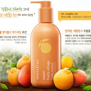 Cùng Mua - Duong the INNISFREE sweet fruit village body lotion