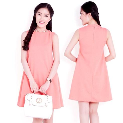 Đầm suông oversize đính phụ kiện