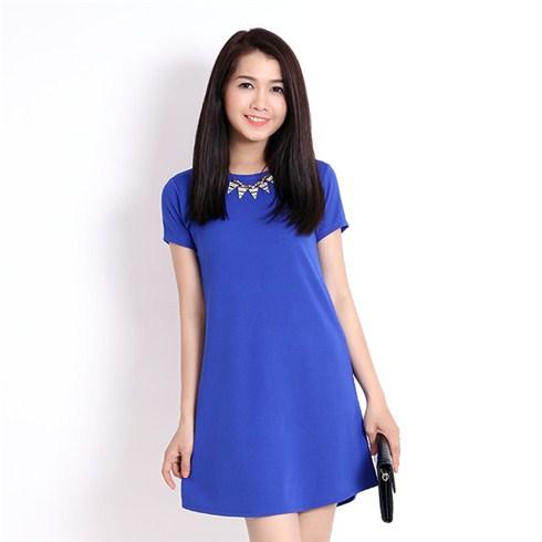 Đầm suông dạo phố - cơ sở may Ngọc Khánh