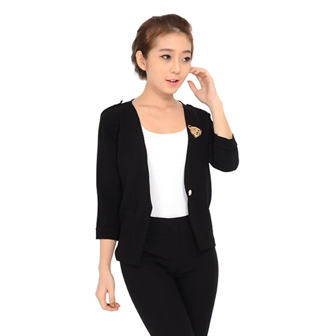Áo vest nữ thời trang Hàn Quốc - màu đen