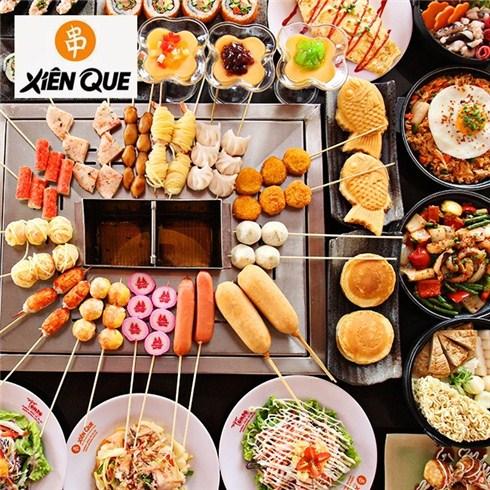 Buffet Nhật - Hàn gọi món hơn 150 món + tráng miệng - HT Xiên