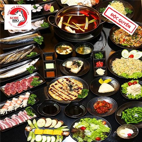 Buffet trưa/tối sushi, lẩu, BBQ kiểu Nhật - Nhà hàng KoBe BBQ