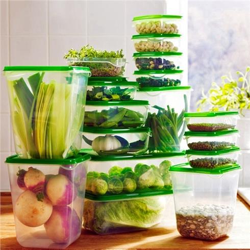 Bộ hộp nhựa đựng thức ăn 17 món cao cấp, dùng được lò vi sóng