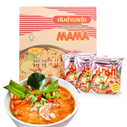 Thùng mì Mama nhập khẩu Thái Lan 30 gói - vị tôm chua cay