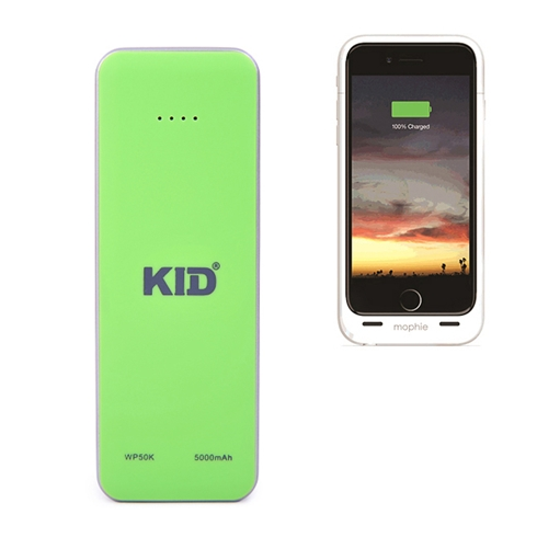Pin sạc dự phòng KID siêu nhỏ 5.000mAh màu xanh lá