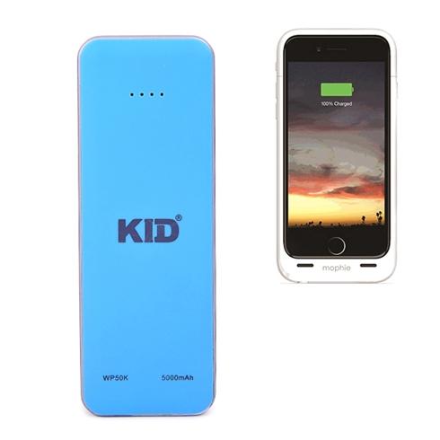 Pin sạc dự phòng KID siêu nhỏ 5.000mAh màu xanh dương
