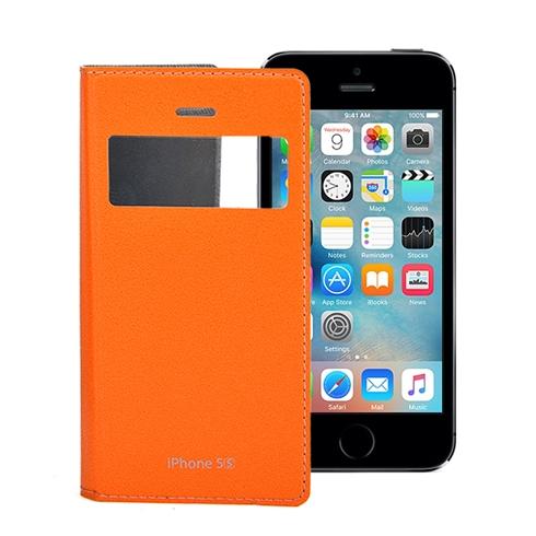Bao da iPhone 5/5S Feelook Korea cao cấp chính hãng - Cam