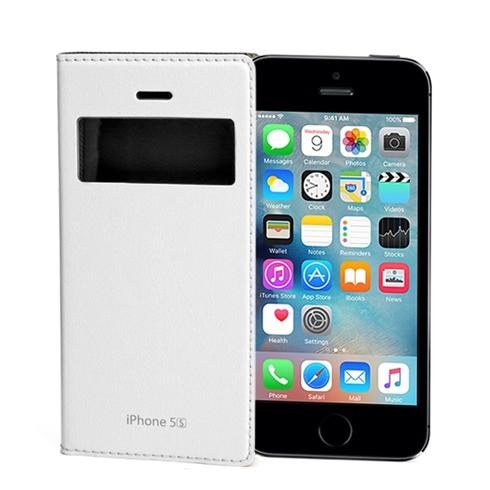 Bao da iPhone 5/5S Feelook Korea cao cấp chính hãng - Trắng
