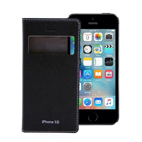 Bao da iPhone 5/5S Feelook Korea cao cấp chính hãng - Đen