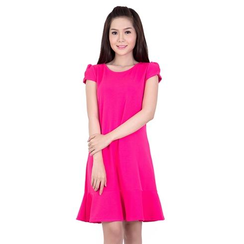 Đầm big size chân váy đuôi cá màu hồng sen 17