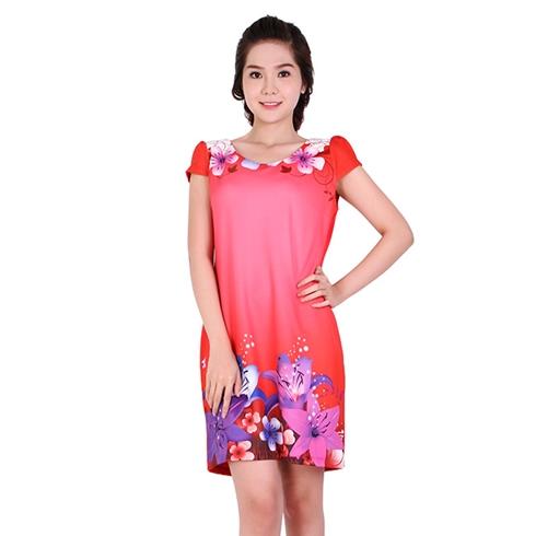 Đầm big size hoa chân váy 3D 06