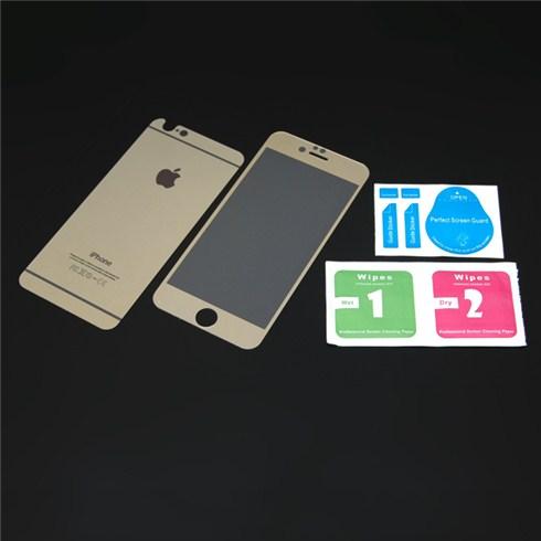 Bộ miếng dán cường lực 2 mặt cho iPhone 6 màu gold