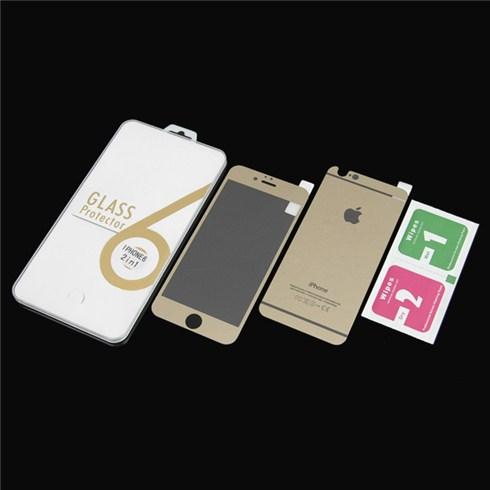 Dán cường lực màu 2 mặt cho iphone 6 plus - vàng