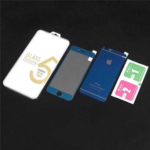 Dán cường lực màu 2 mặt cho iphone 6 - xanh đen