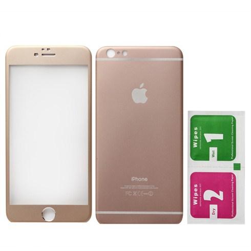 Dán cường lực kim loại 2 mặt cho iphone 6 - vàng