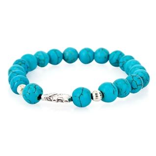 Cùng Mua - Lac tay da Turquoise xanh tu nhien charm voi may man