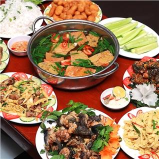 Cùng Mua - Set lau ech mang cay cho 4 nguoi tai Quan Ngan 24