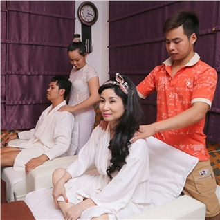 Cùng Mua (off) - Tron goi massage foot va body, dap mat na, ngam chan -Good Spa