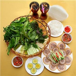 Cùng Mua - Thuong thuc bo hap cuon rau rung tai Nha hang King